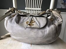 MARC JACOBS Petal to the Metal EVIE Taupe Hobo Shoulder Crossbody Lambs Leather