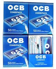 4 x OCB COMBIPACK : 200 sheets OCB Rolling paper + 200 extra Slim filter Tips