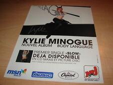 KYLIE MINOGUE - BODY LANGUAGE!!!!DIF!PUBLICITE / ADVERT