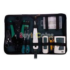 9 Pcs RJ45 RJ11 CAT5 LAN Network Kit Cable Tester Crimper Stripper Set Tools AS
