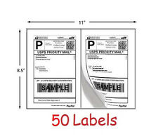 Shipping Labels 50 Self Adhesive Printer Paper Ebay Paypal Postage 85 X 55