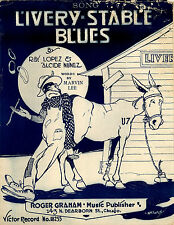 Livery Stable Blues Ray Lopez & Alcide Nunez 12x8 inch Reproduction Poster 1917