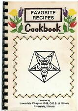 *RIVERSIDE IL 1983 *FAVORITE RECIPES COOK BOOK *ORDER OF THE EASTERN STAR *OES