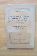LYCEE BUFFON DISTRIBUTION SOLENNELLE DES PRIX FAITE LE 11 JUILLET 1936