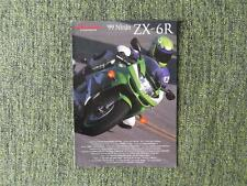 KAWASAKI ZX6R NINJA MOTORCYCLE SALES BROCHURE 1999 REF-999491102ALLE