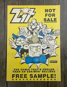 Zit Comic - 1991 Free Sample Issue - Ref C95 - Bagged & Boarded - Free Post.