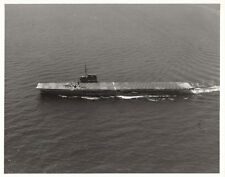 USS SABLE ( lX-81)~AIRCRAFT CARRIER~F4F WILDCAT FIGHTER STOPPED IN BARRIER-1945