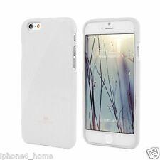 Genuine MERCURY Goospery Metallic White Soft Jelly Case Cover For iPhone 6/6s