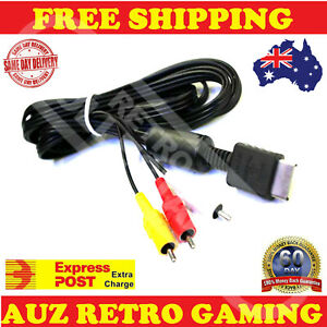 Genuine Sony Playstation RCA AV Cable PS1 PS2 PS3 Playstation Cord