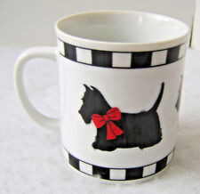 Department 56 Scottie Dog Coffee Mug / Scottish Terrier Red Bow Cup