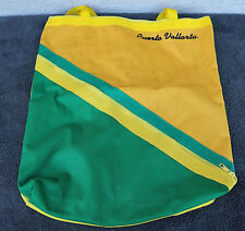 Puerto Vallarta Sail Heavy Tote Bag Green Yellow Compact Sturdy Unusual