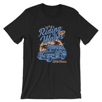 Riding The Waves T-Shirt. 100% Cotton Premium Tee NEW