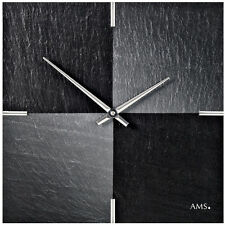 AMS 47 Wall Clock Natural Slate wohnzimmeruhrm Office Motive Chess schieferuhr
