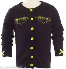 86313 Black Batty Baby Cardigan Sourpuss Toddler Halloween Bat Goth Punk 12M NEW