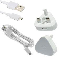 Genuine BlackBerry Priv Classic Z30 Z10 Q10 Micro USB UK Plug Wall Charger White
