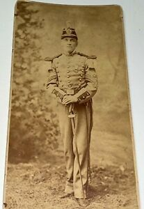 Rare Antique American 3rd New Jersey Reg. Military ID'd Soldier Cabinet Photo!