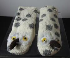 Knitwits Handmade WWF Snowy Owl Animal Mittens Youth/Adult (6+) GY15