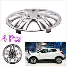 "4 Pcs ABS Silver 12""Car SUV Wheel Rim Skin Cover Hub Caps Hubcap Replacement Kit"