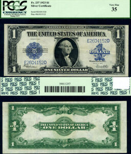 FR. 237 $1 1923 Silver Certificate Choice PCGS VF35