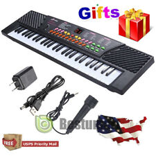 Portable Electronic Keyboard Piano 54Key W/Mic Adapter Microphone For Kids/Adult