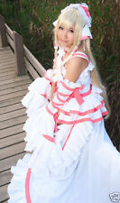 Chobits Chii Cosplay white pink Lolita Gorgeous Costume/Dress New @@109