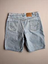 "Vintage 90s Levi's 550 Denim Jean Shorts Blue 40 Relaxed 38"""