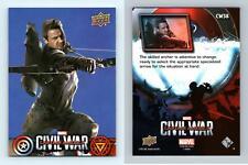 Hawkeye #CW38 Captain America Civil War 2016 Upper Deck Walmart Trading Card
