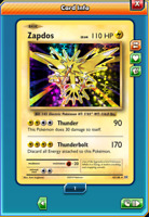 Zapdos [42/108] DIGITAL CARD, Holo Rare, XY Evolutions, Pokemon TCG Online