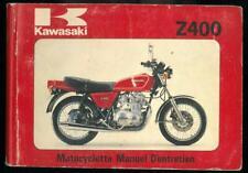 Manuel d'Entretien du Propriétaire KAWASAKI Z 400 B2 G1 Bicylindre 1979 Français