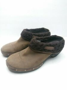 Womens Merrell Luxe Wrap Bitter Chocolate Brown Leather Clogs Shoes Mules Sz 8.5