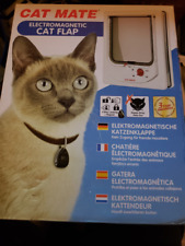 Cat Mate Electromagnetic Cat Flap #254W (White) NEW