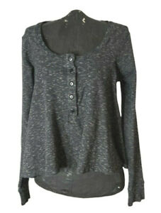METALICUS TOP. Grey Marle Cotton mix top, cardigan. One size  fits 12+