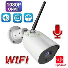 US SHIP-1080P Wireless WIFI IP Camera Onvif Outdoor Security Bullet IR NightView