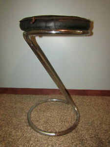 Gilbert Rohde Vintage Mid Century Modern Z Chrome Barstool Original
