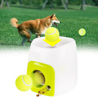 UK Pet Dog Tennis Ball Launcher Thrower Toy Automatic Interactive Fetch Chucker