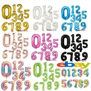 """40"""" Giant Foil Number Balloons letter Helium Birthday Age Party Wedding decorat"""