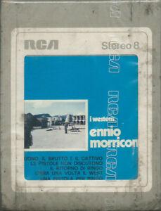 STEREO 8 TAPE ENNIO MORRICONE I western OST (Rca 72) 1st ps Sergio Leone SEALED!