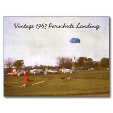 """The Parachute Landing"" (Skydiving) ...1963 Classic-  (B338) {Postcard}"