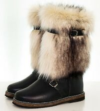 Unty Men's Russian Boots Sheepskin Warm Natural Leather Hunting Fishing Tourism