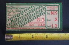 1935 NOV. 9 NAVY VS PENNSYLVANIA FRANKLIN FIELD NCCA FOOTBALL TICKET $2.28