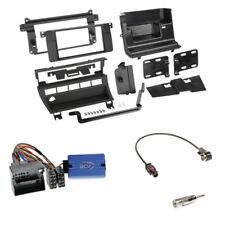 BMW 3er (E46 2001-2007) 2-DIN Radioblende (5 Schalter) schwarz + LFB Clarion Set