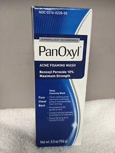 PanOxyl Foaming Acne Wash Maximum Strength 10% Benzoyl Peroxide 5.5 oz exp 7/22