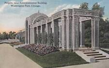 Antique Postcard c1910-20s Pergola Washington Park Chicago, Il 17629