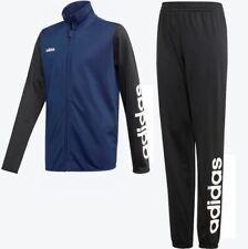 Adidas Tastigo Polyester Trainingsanzug Herren Sport Anzug Fussball blau/schwarz