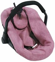 Bayer Chic 200070870Jeans Pink Dolls Car Seat for Baby Dolls
