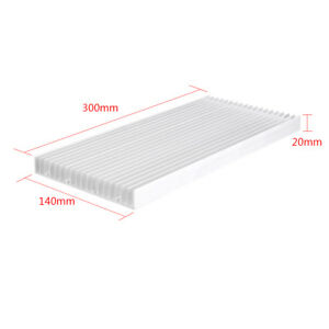 Aluminium Kühlkoerper Kühlung für LED Power Chip IC Transistor 300x140x20mm❤