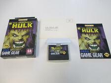 1995 The Incredible Hulk Complete in Box for Sega Game Gear CIB