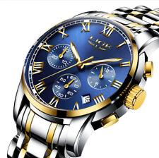 Reloj Relogio Para Hombre Deportivos Relojes Fino de Caballero Plata Oro y Azul