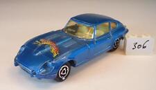 MAJORETTE 1/60 n. 207 JAGUAR TYPE E v12 Coupe Blu Metallizzato M. Leopard n. 2 #306