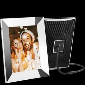 "Nixplay - 9.7"" LCD Wi-Fi Digital Photo Frame - Silver"